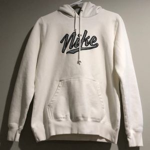 Nike Sweaters - Nike Ladies Pullover White Hoodie Size L